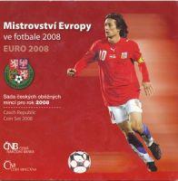 Ročníková sada oběžných mincí ČR (2008-mistrovství Evropy ve fotbale), stavy 0/0