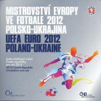 Ročníková sada oběžných mincí ČR (2012-Mistrovství Evropy ve fotbale), stavy 0/0