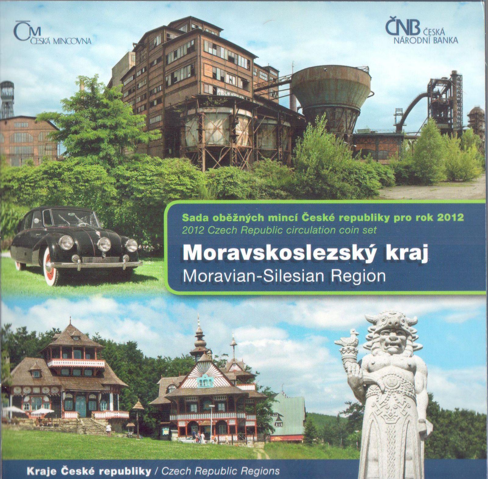 Ročníková sada oběžných mincí ČR (2012-Moravskoslezký kraj), stavy 0/0