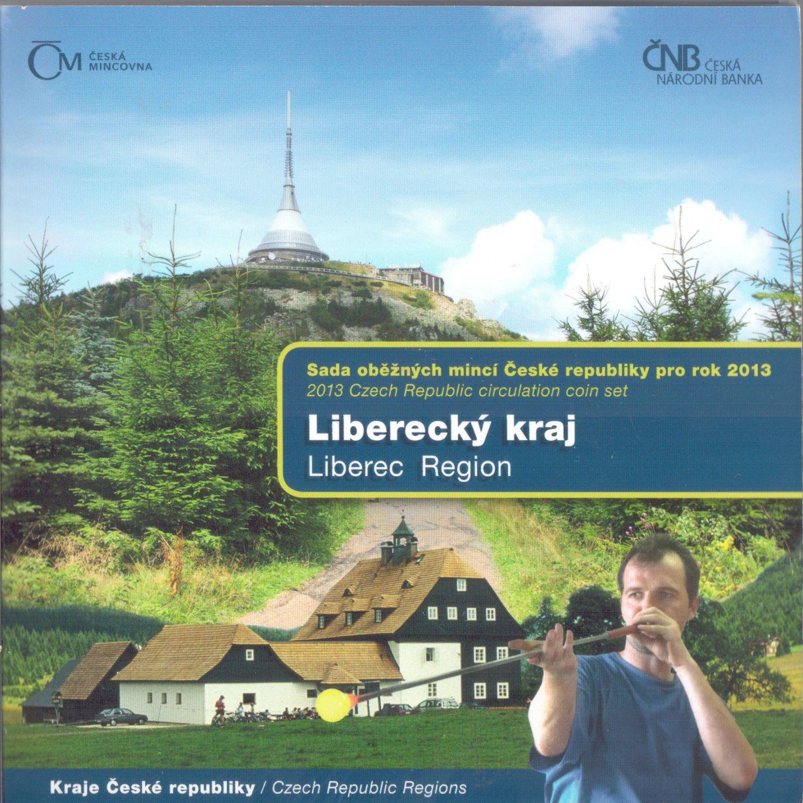 Ročníková sada oběžných mincí ČR (2013-Liberecký kraj), stavy 0/0