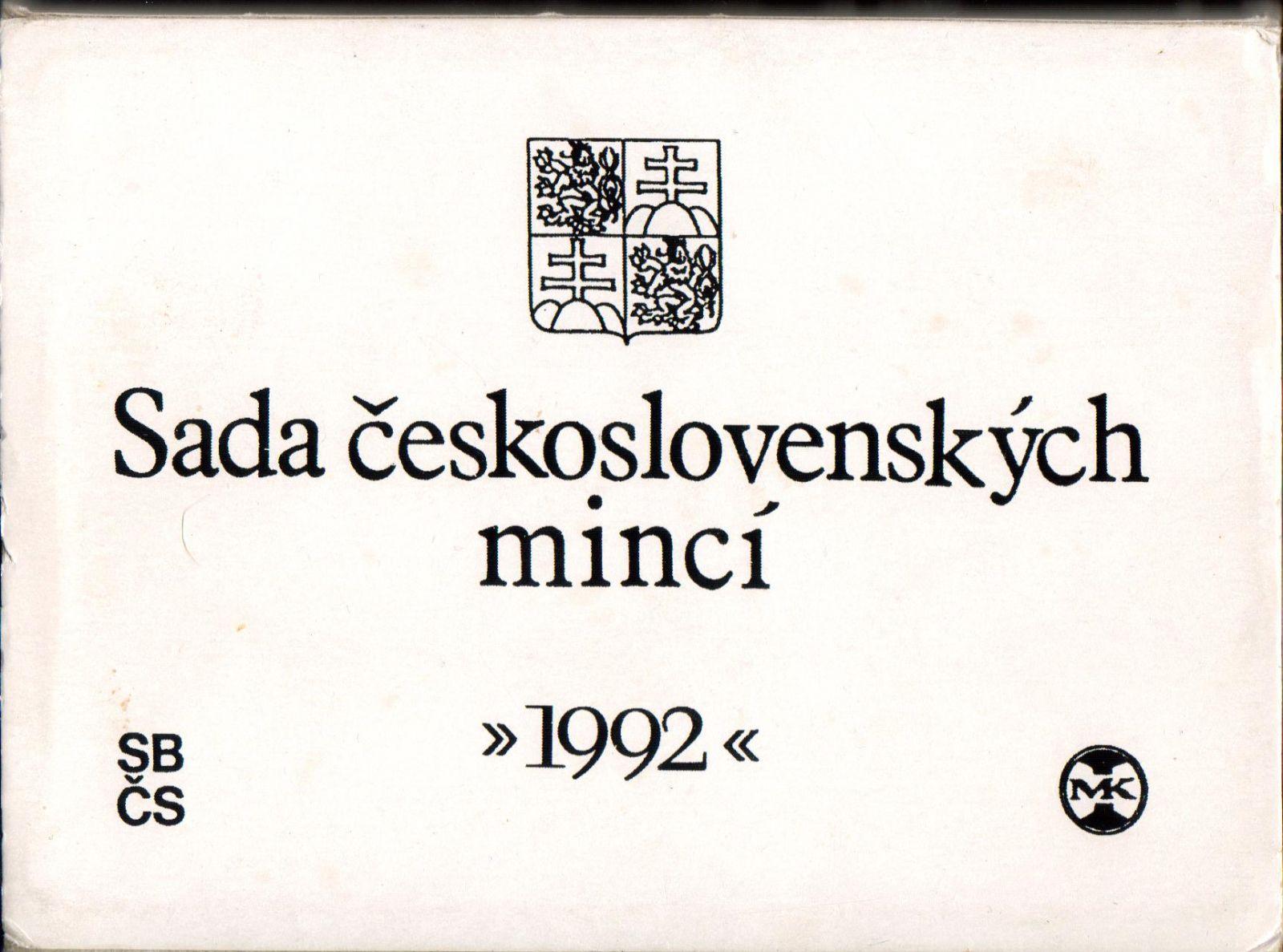 Ročníková sada oběžných mincí ČSFR (1992-Rašín), stavy 0/0