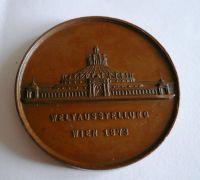 Světová výstava ve Vídni, Cu, průměr 40 mm, Rakousko