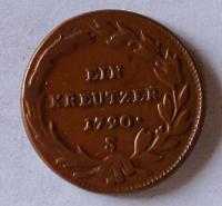 Uhry 1 Krejcar 1790 S Josef II. Stav
