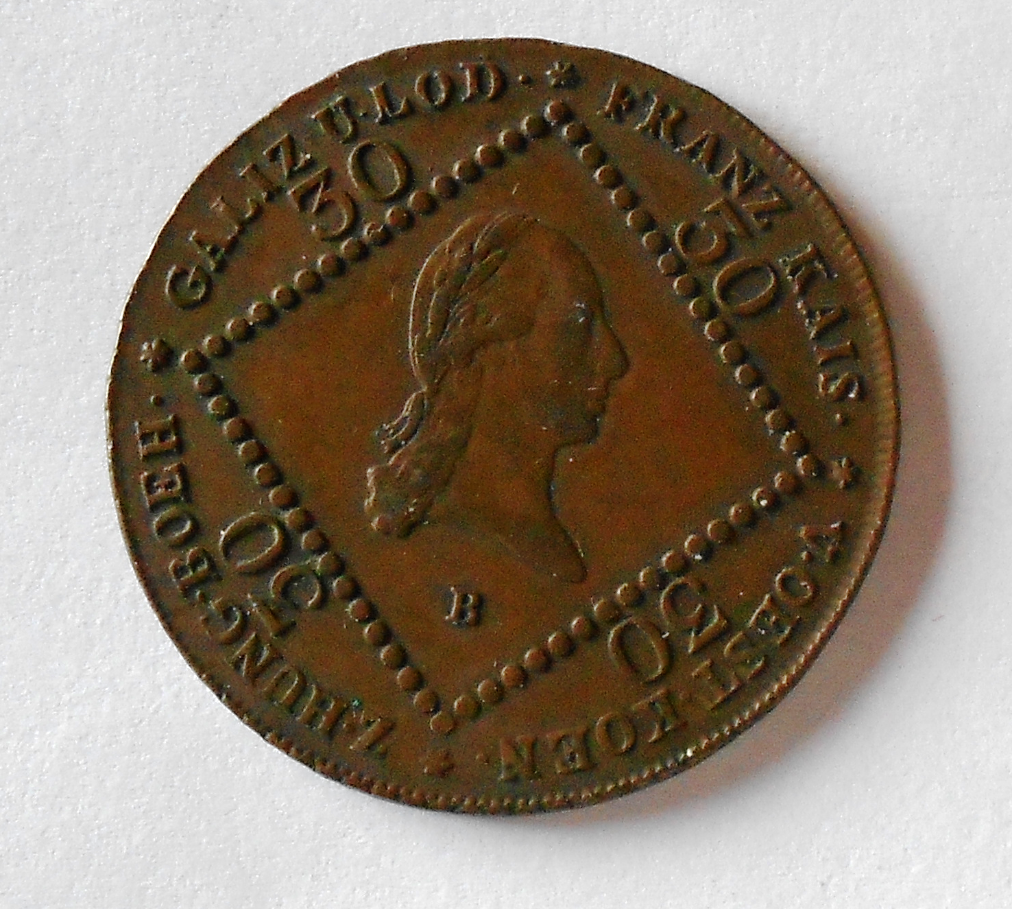 Uhry 30 Krejcar 1807 B František II. Stav