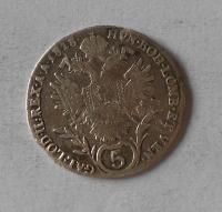 Uhry 5 Krejcar 1818 B František II.