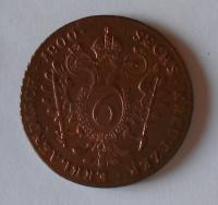 Uhry 6 Krejcar 1800 B František II. Stav