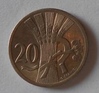 ČSR 20 Haléř 1937 stav
