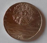 ČSR 25 Kčs, osvobození 1970