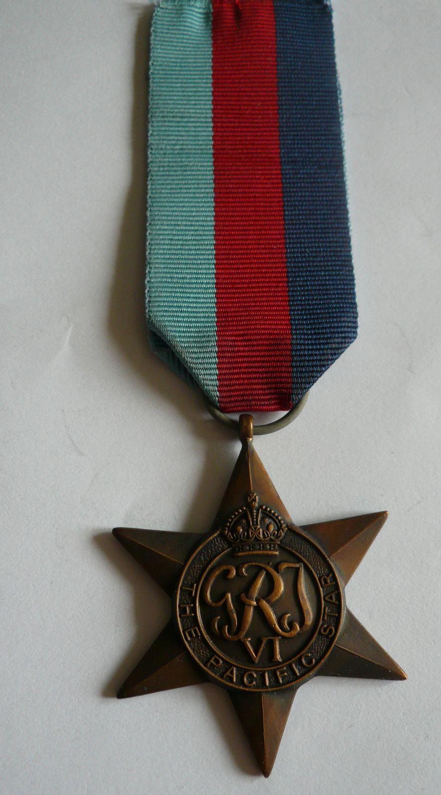 Hvězda za boje v Pacifiku, Velká Británie
