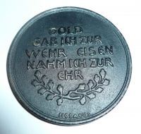 medaile na drahotu, 1916, Německo