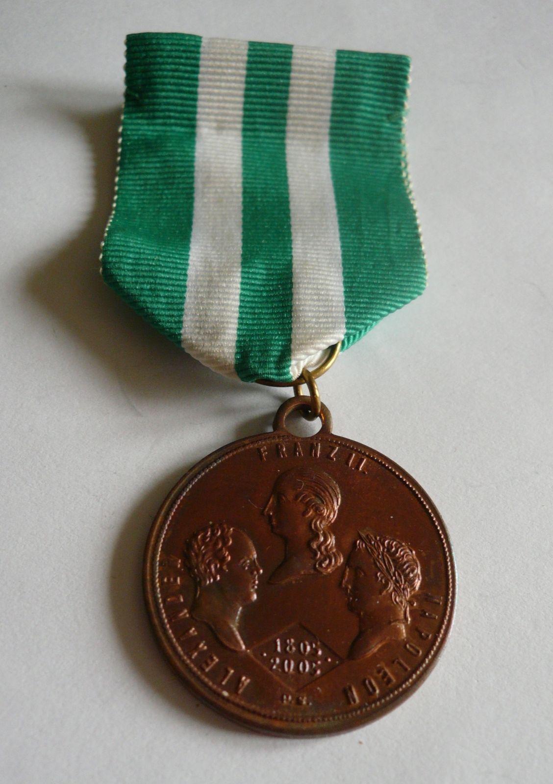 pamětní medaile na bitvu u Slavkova, ČR