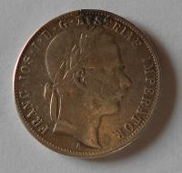 Rakousko 1 Zlatník/Gulden 1870 A měl ouško