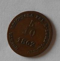 Rakousko 5/10 Soldo 1862 V