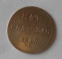Uhry Hat Krejcar 1849 NB