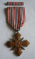 válečný kříž, 1945-46, stužka, ČSR