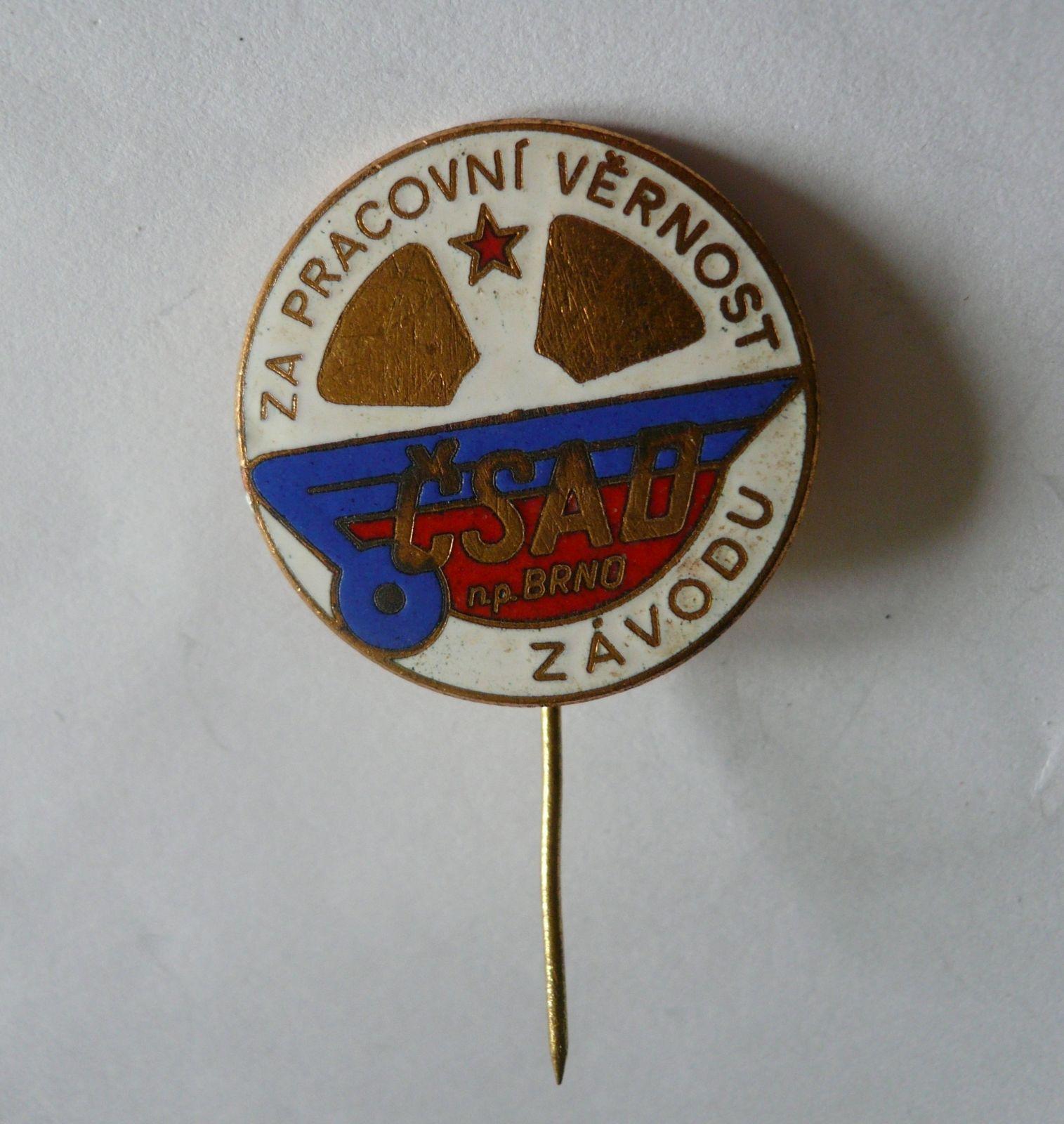 za pracovní věrnost - ČSAD Brno, ČSSR