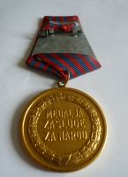 za zásluhy o národ, Jugoslávie