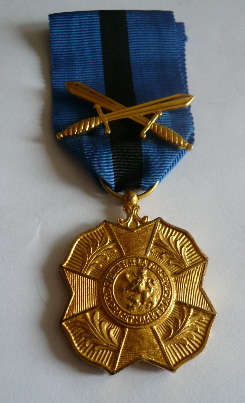 záslužná medaile s meči, Belgie