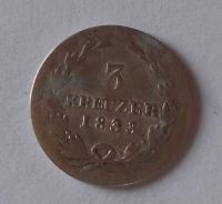 Baden 3 Krejcar 1833 Leopold
