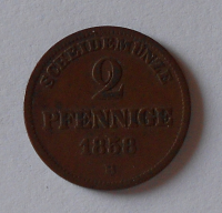 Birkenfeld 2 Pfenik 1858