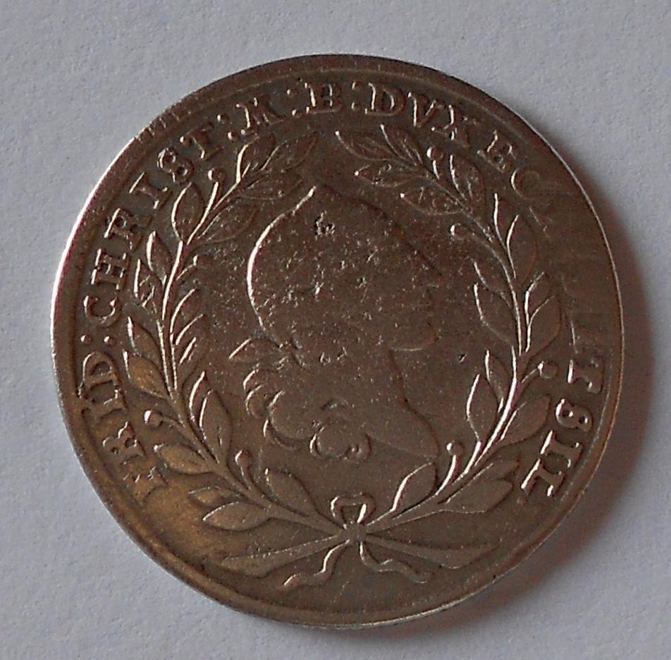 Brandenburg-Bayreuth 20 Krejcar 1766 Fridrich ChristIan