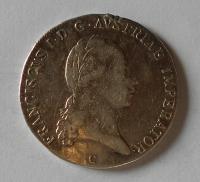 Čechy – Praha 1/2 Tolar 1824 C František II. Měl ouško