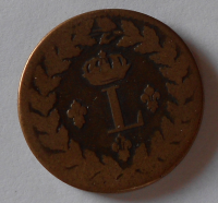 Francie 1 Decime 1815 Ludvík XVII.