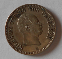 Prusko 1/6 Tolar 1864 A Vilém I.