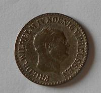 Prusko 1 Groš stříbrný 1858 A Vilém I.