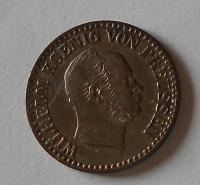 Prusko 1 Groš stříbrný 1865 A Vilém I.