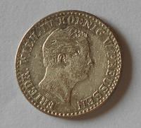 Prusko 2 1/2 Groš stříbrný 1843 A Frid. Wilhelm