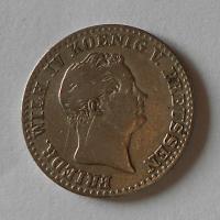 Prusko 2 1/2 Groš stříbrný 1849 A Frid. Wilhelm