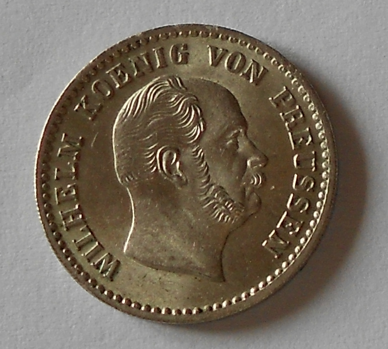 Prusko 2 1/2 Groš stříbrný 1862 A Vilém I.