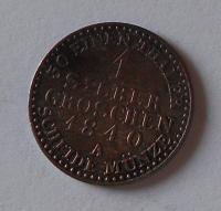 Sasko 1 Stř. Groš 1840 A