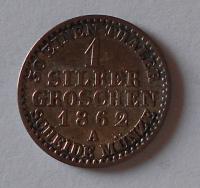 Sasko 1 Stř. Groš 1862