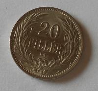 Uhry 20 Fillér 1914 KB pěkná