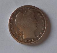 USA 1/4 Dolar 1894