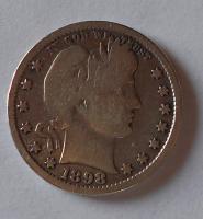 USA 1/4 Dolar 1898