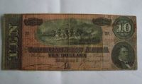 10 Dollar, USA-konference, Richmond, 1864