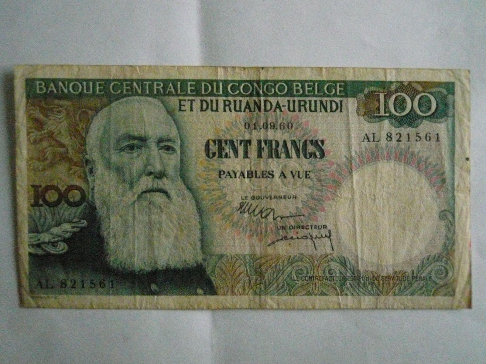 100 Frank, Belgická Ruanda-Burundi, 1960