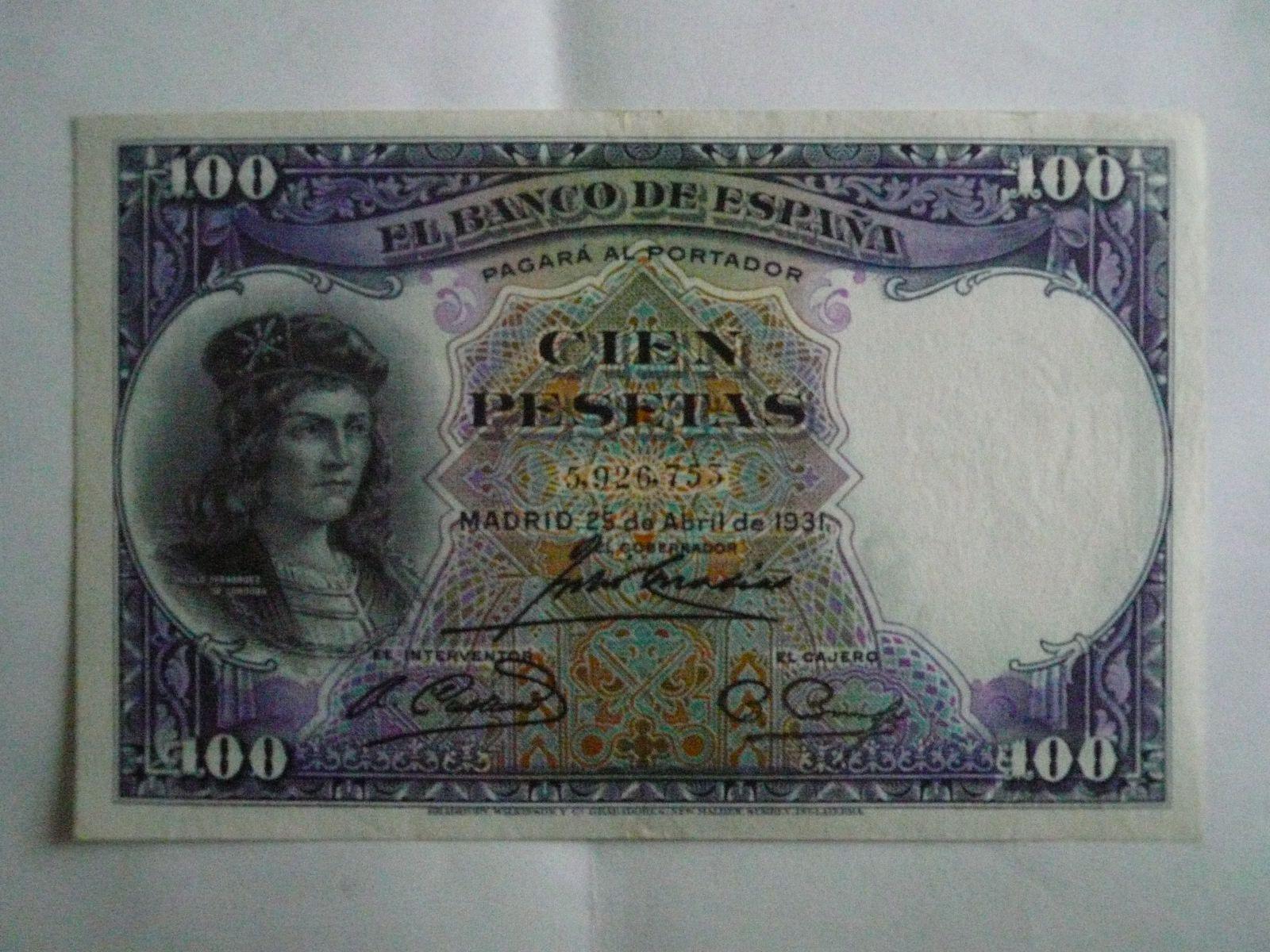 100 Peseta, Španělsko, 1931