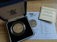 200 Kč(1994-vylodění v Normandii), stav PROOF, etue a certifikát