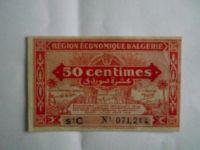 50 centines, Belgický Alžír, 1949