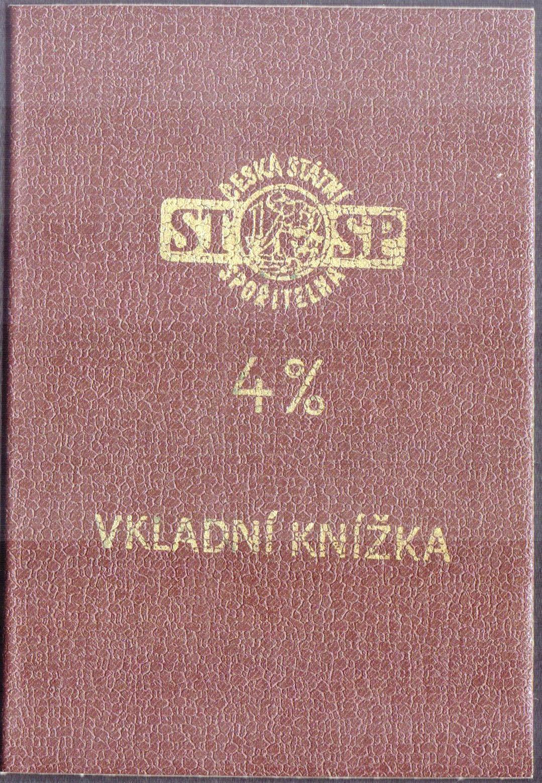 Vkladní knížka 4%, Česká spořitelna ČSSR (1985)