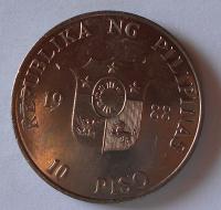 Filipíny 10 Peso 1988
