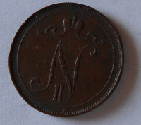 Finsko pod Ruskem 10 Penia 1907