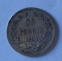 Finsko pod Ruskem 25 Pennia 1894