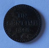 Francie 1 Centim 1848 A