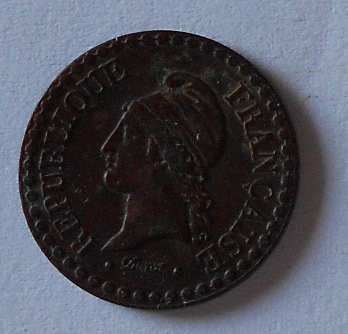 Francie 1 Centim 1849 A stav