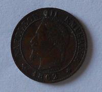 Francie 1 Centim 1862 A Napoleon III.